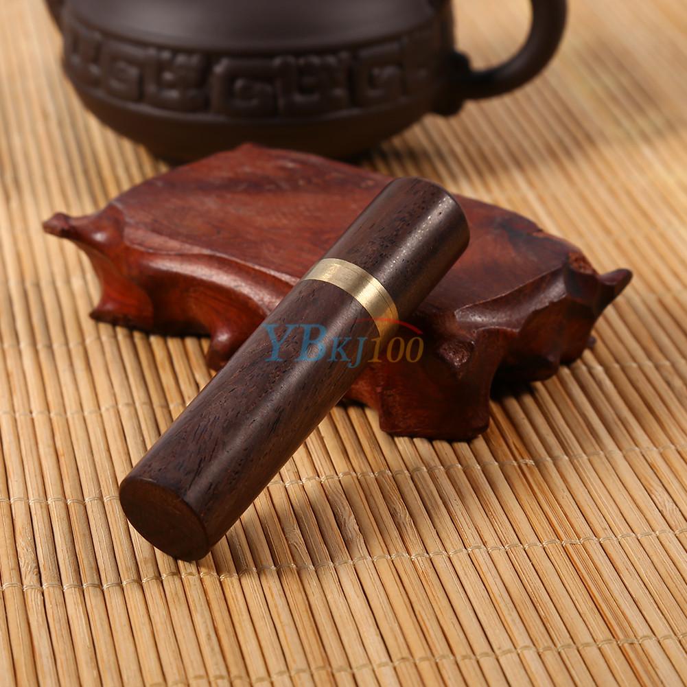 1pcs ebony wood wooden toothpick holder case capsule box portable craft ebay - Wooden pocket toothpick holder ...