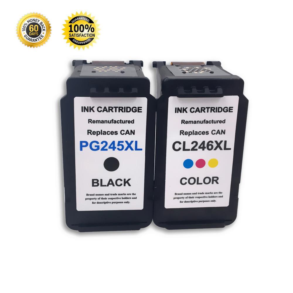 2 pack pg 245 black cl 246 color ink cartridge for pixma ip2820 mg2920 mg2922 ebay. Black Bedroom Furniture Sets. Home Design Ideas