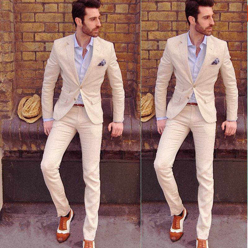 Hot Mens Slim Fit Wedding Suits Groom Tuxedos Groomsmen