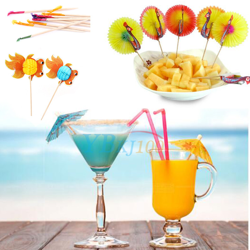 50pc cocktail sticks juice drink ice cream canape picks for Decoration canape