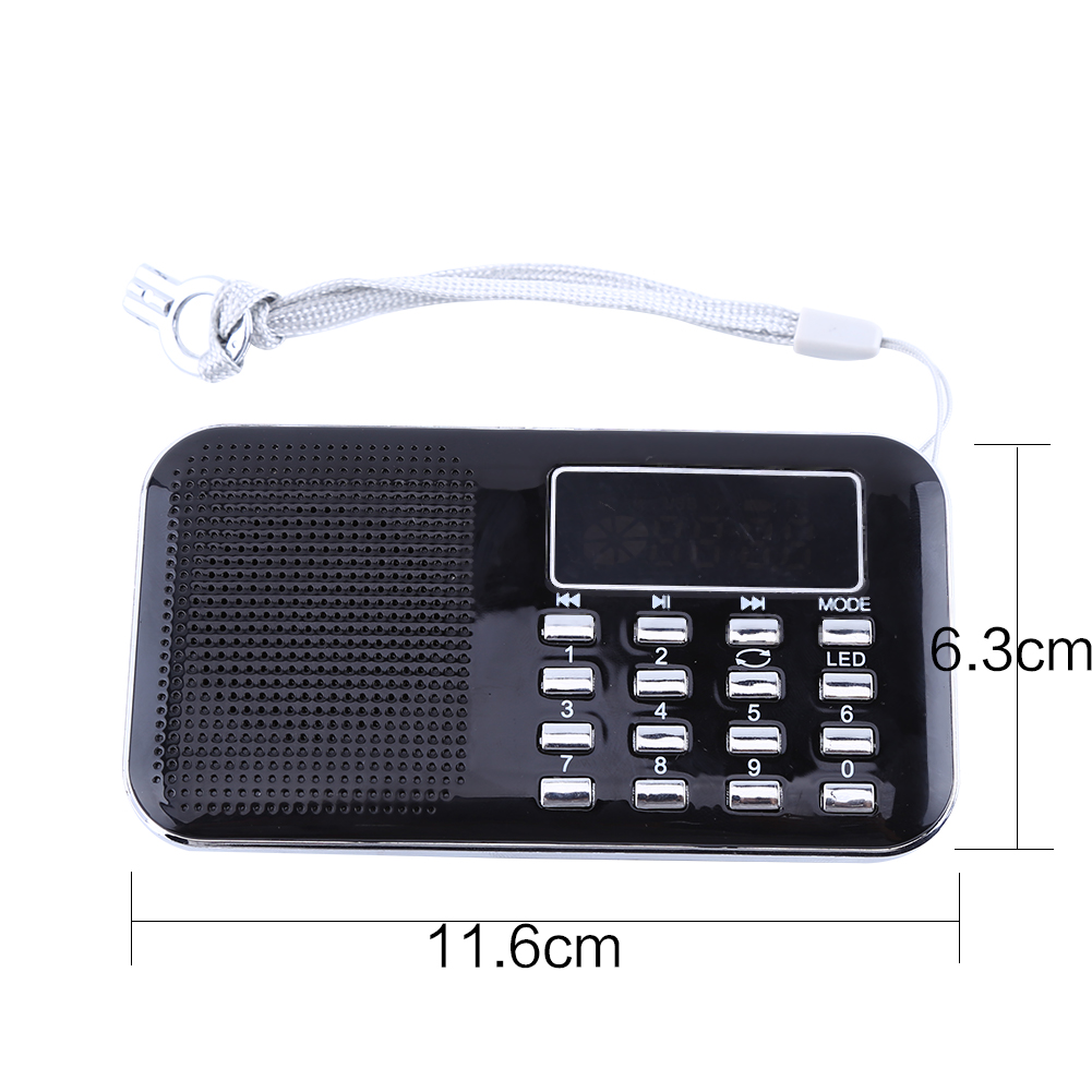 mini lcd receiver digital fm am radio speaker usb micro sd. Black Bedroom Furniture Sets. Home Design Ideas