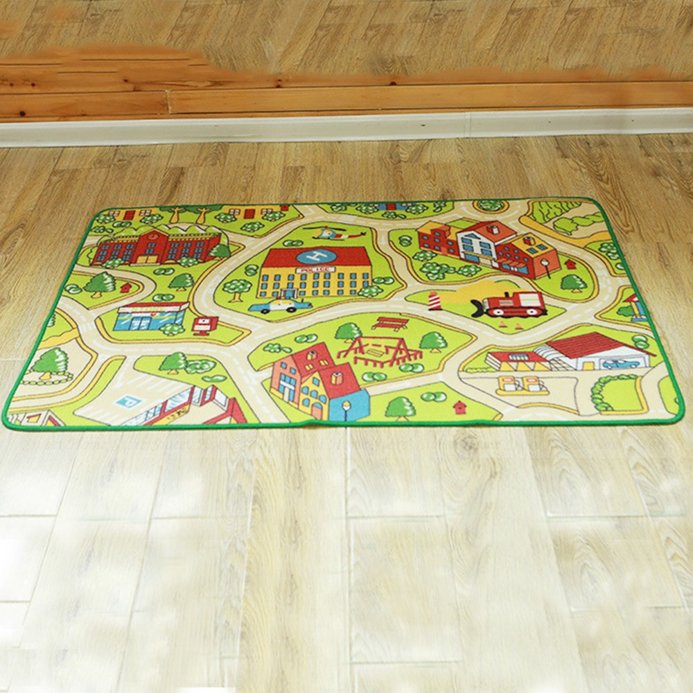 Floor area rug baby kids child play mat anti slip bedroom for Mats for kids room