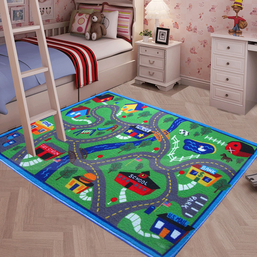 Floor area rug baby kids child play mat anti slip bedroom for Carpet for kids rooms
