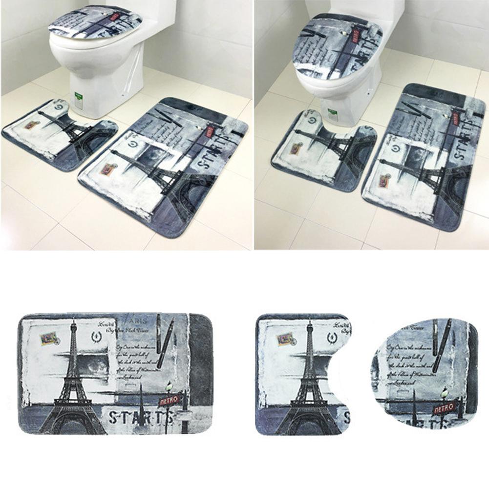 3x set badgarnitur badezimmer matte set duschvorleger badvorleger badteppich neu ebay. Black Bedroom Furniture Sets. Home Design Ideas