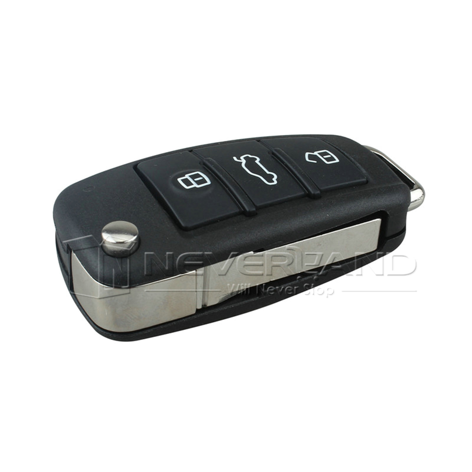 4 Button Remote Key Shell Replacement Flip Fob For Audi A6