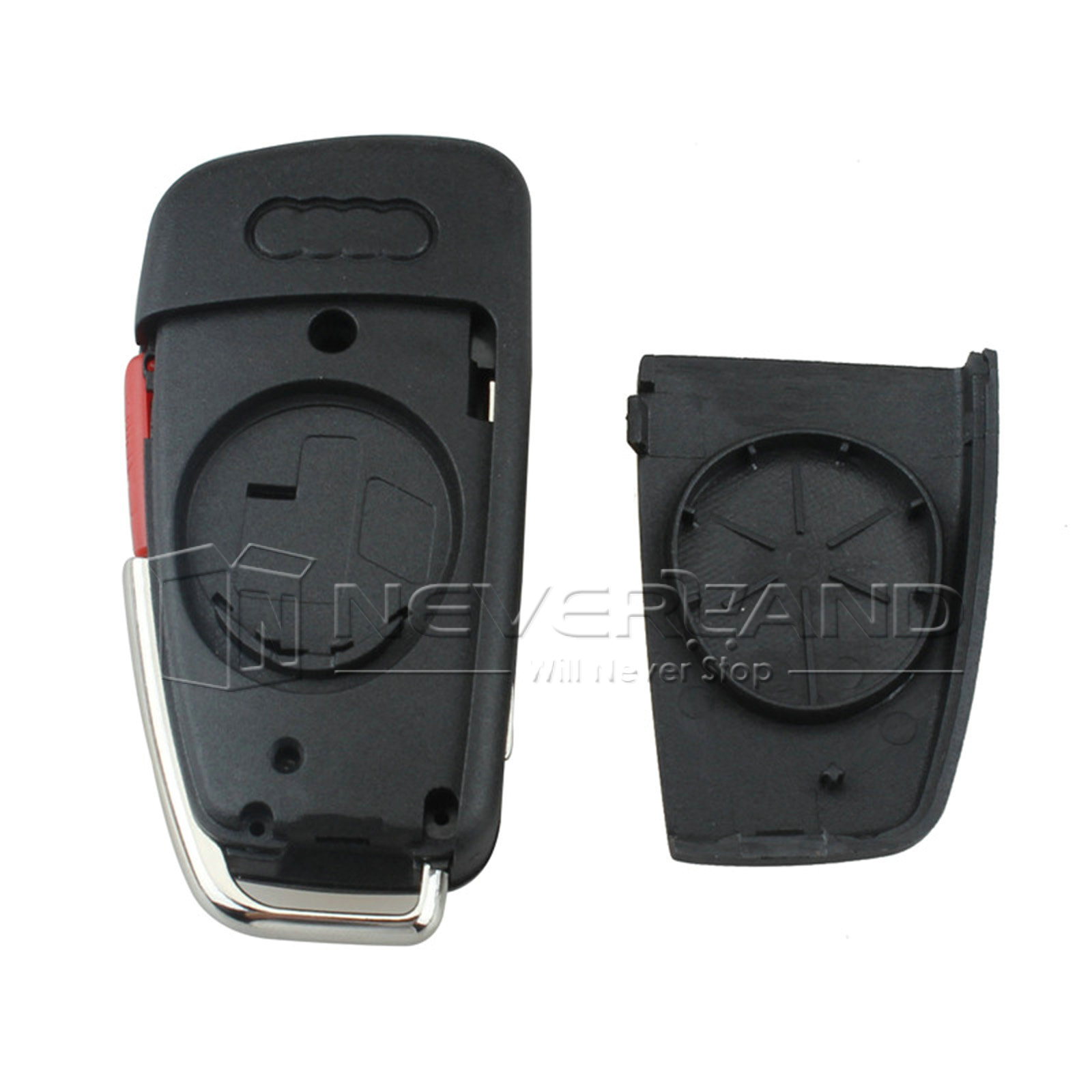 Remote Car Key Shell Replacement Flip Fob For Audi A6 A4