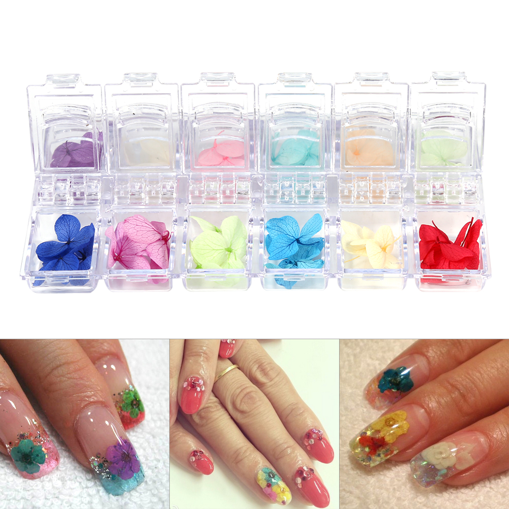 Nail art tips decoration dried flowers 3d design manicure for 3d acrylic nail art decoration