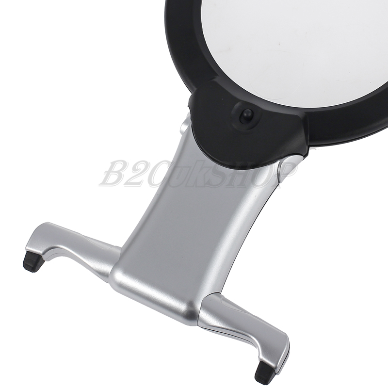 new giant large hands free magnifying glass with light led magnifier. Black Bedroom Furniture Sets. Home Design Ideas