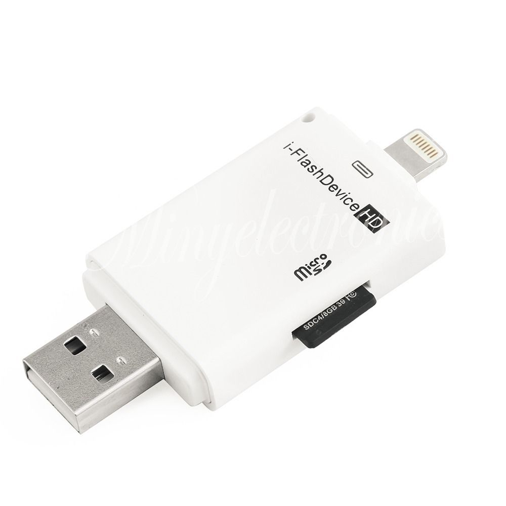 Usb Sd Apple Adapter: New I-Flash Drive USB Micro SD TF Card Reader Adapter For