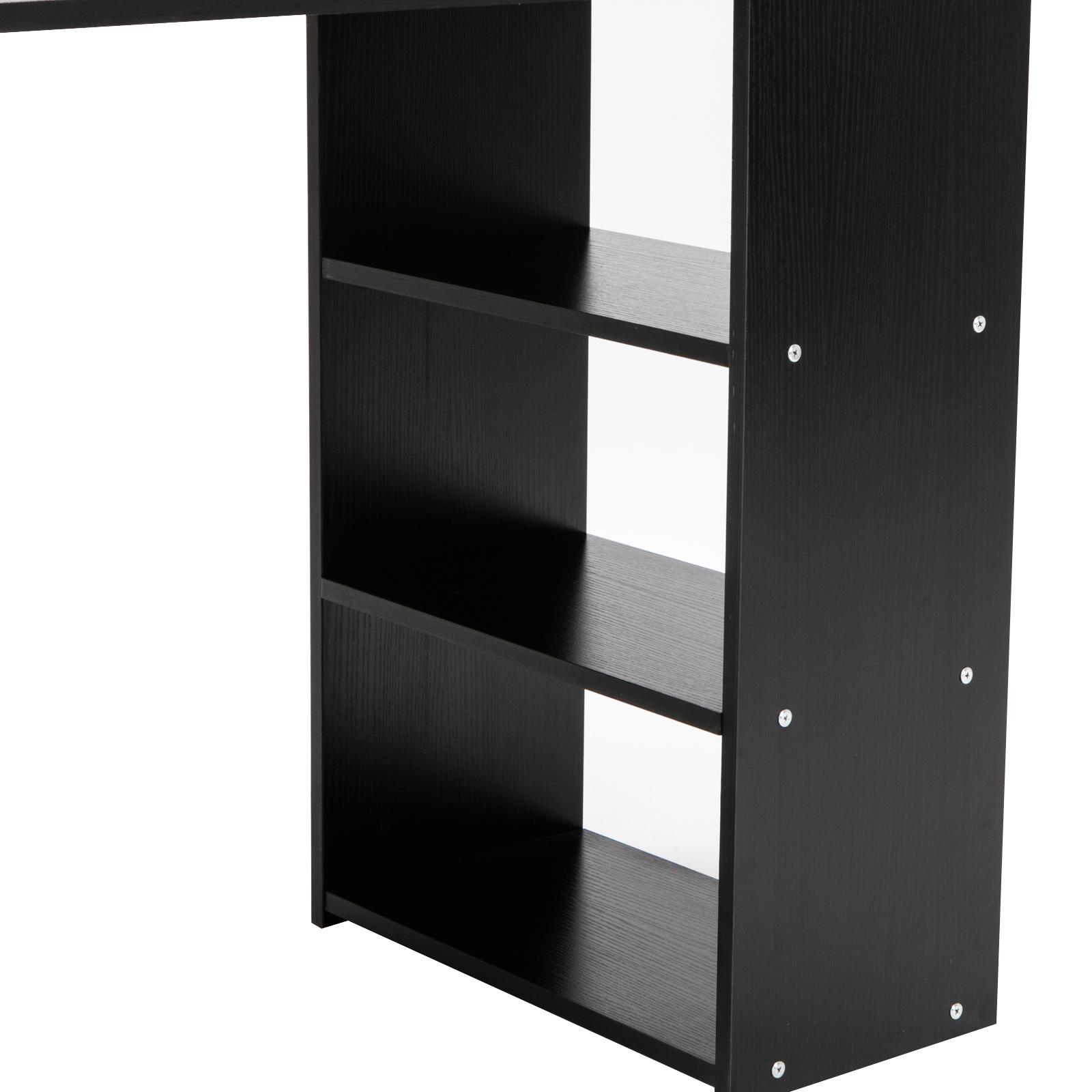 Computer Desk Corner Black Home Office Pc Table Workstation Furniture Ebay