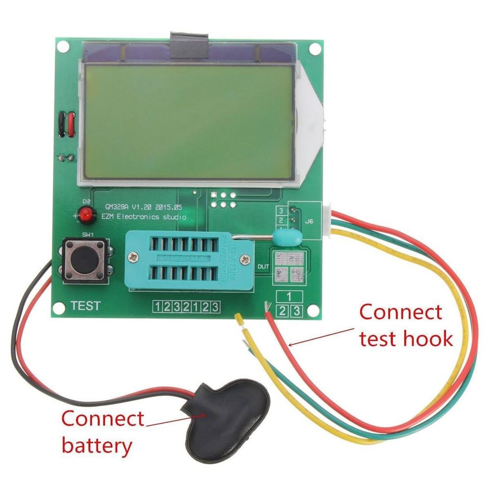 Digital LCD GM328A Transistor Tester Diode Triode LCR ESR Meter MOS ...