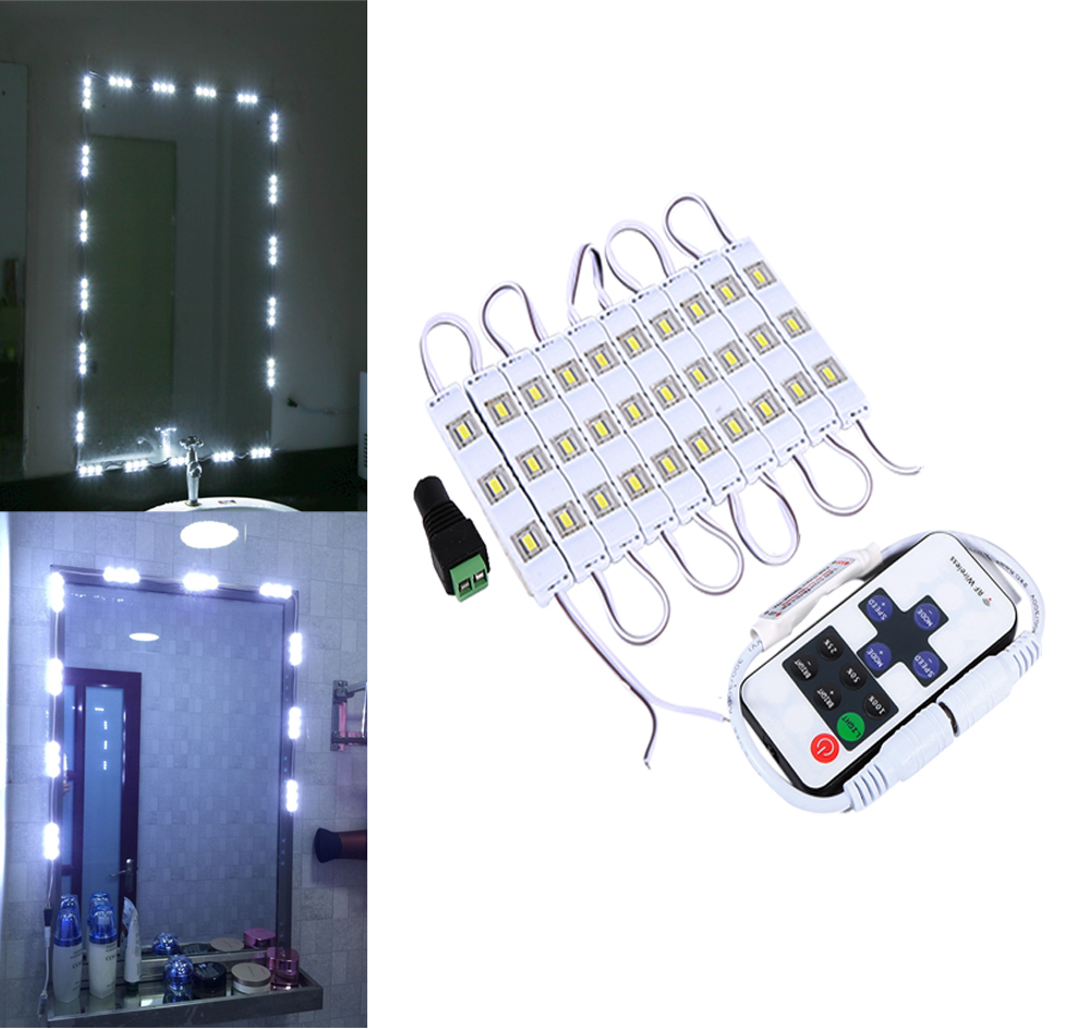 5FT/10FT DC12V LED Light Strip Kit Dressing Cosmetic Vanity Mirror Lighted Power