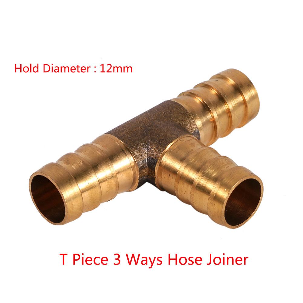Golden mm solid brass t piece way fuel hose joiner tee