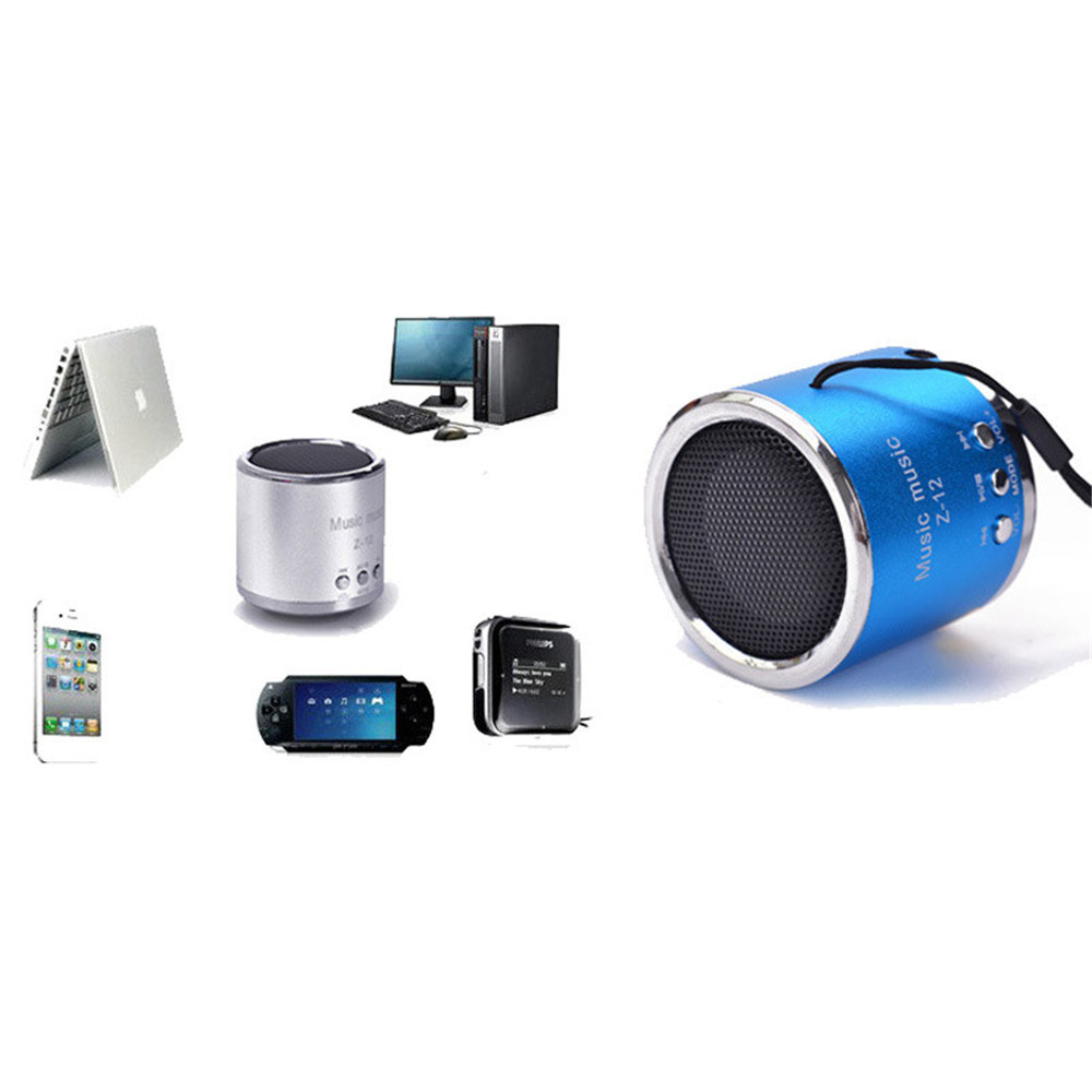 portable small cylinder speaker fm radio usb micro sd tf card mp3 music player ebay. Black Bedroom Furniture Sets. Home Design Ideas