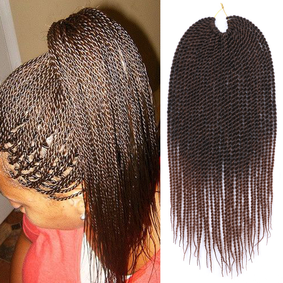 Ombre Brown Braiding Hair 18u0026quot; 30Roots/Pack Senegalese Twist Crochet Braids Hair | EBay