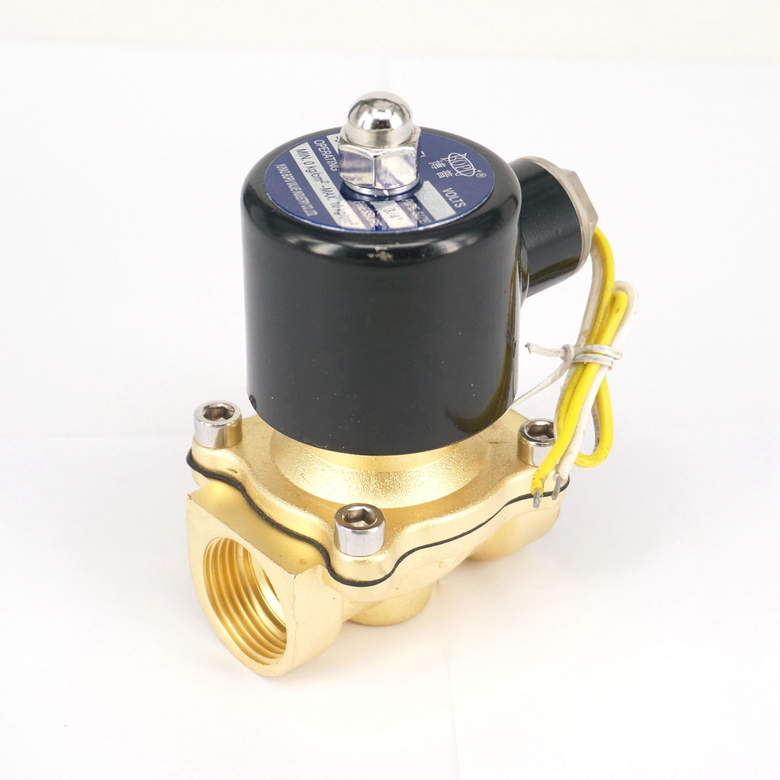 """G3//4/"""" BSPP 2W-200-20 Brass Electric Solenoid Valve Water Oil Air Gas N//C AC 220V"""