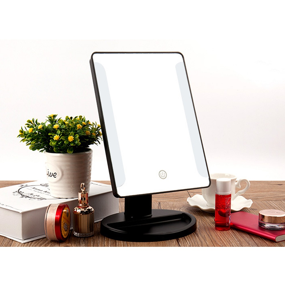 Make Up Vanity Illuminated Desktop Table Makeup Stand Mirrors with LED Light New