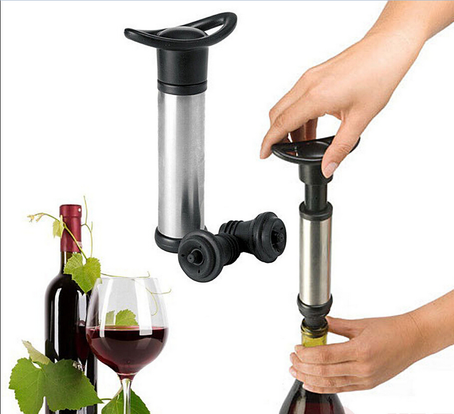 Stainless Steel Wine Bottle Vacuum Saver Sealer Preserver