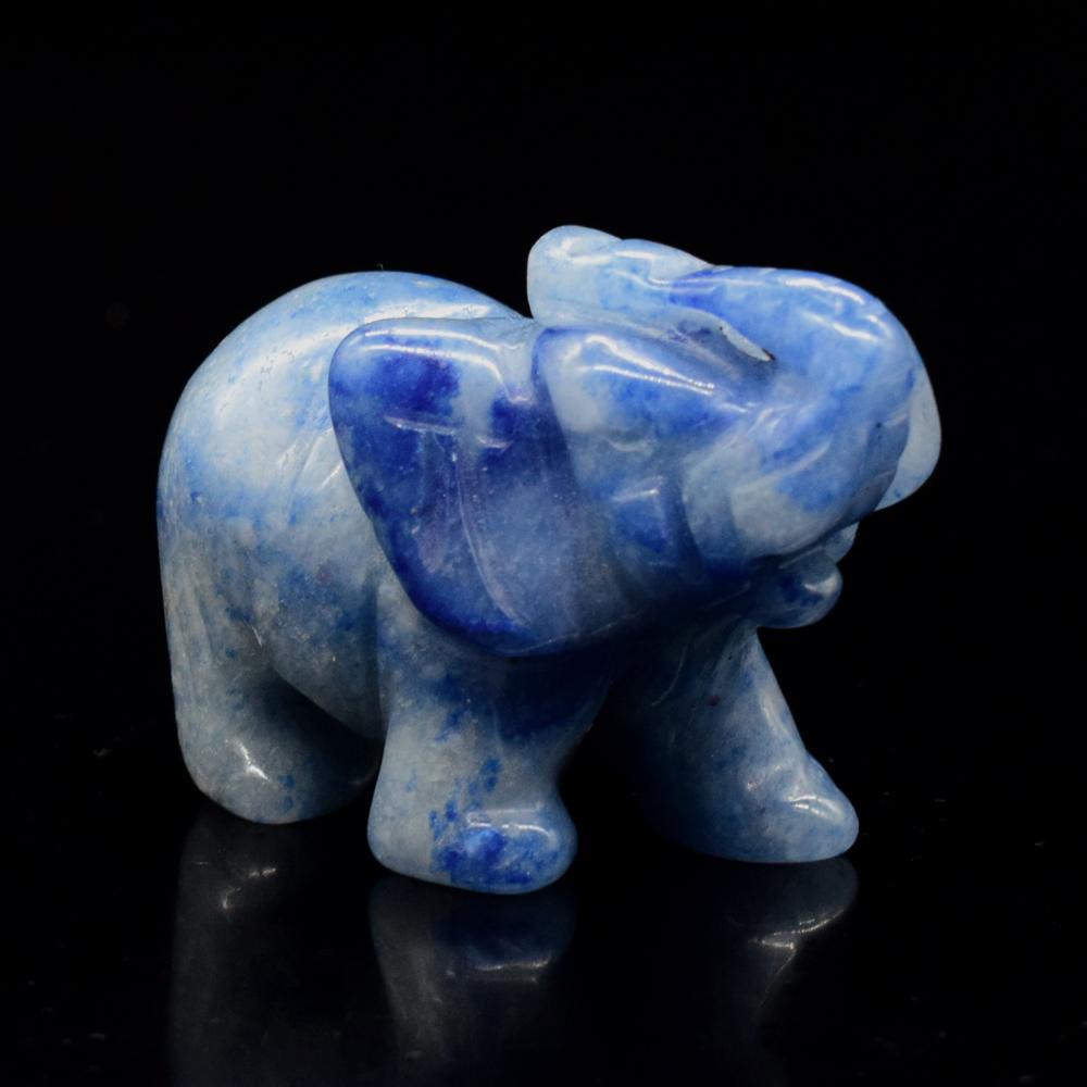 2inch Blue Aventurine Elephant Figurine Carved Gemstone Ornament Home Decor Ebay