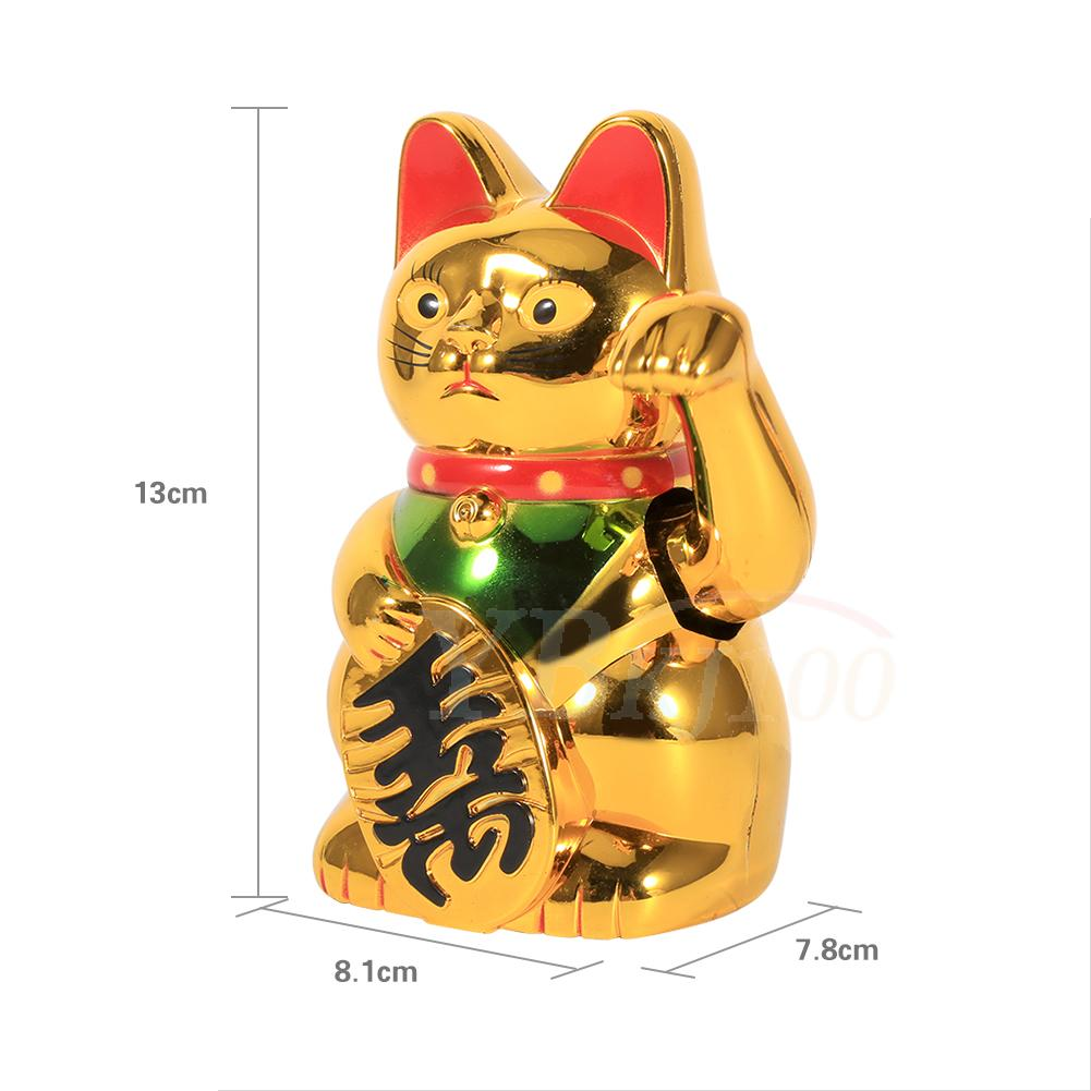 Chinese Lucky Waving Moving Arm Gold Cat Feng Shui