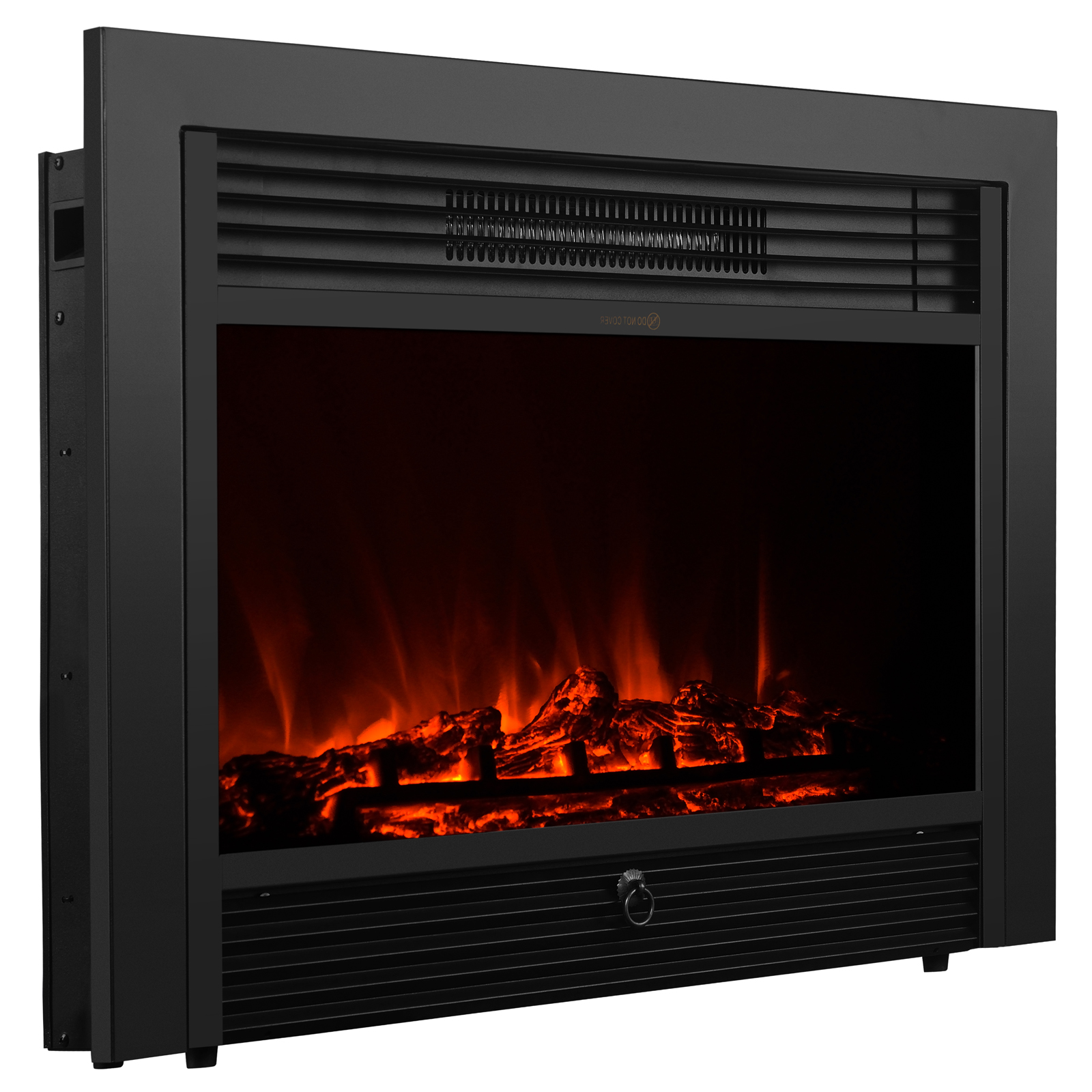 28 5 embedded electric fireplace insert heater glass view log flame w remote ebay. Black Bedroom Furniture Sets. Home Design Ideas