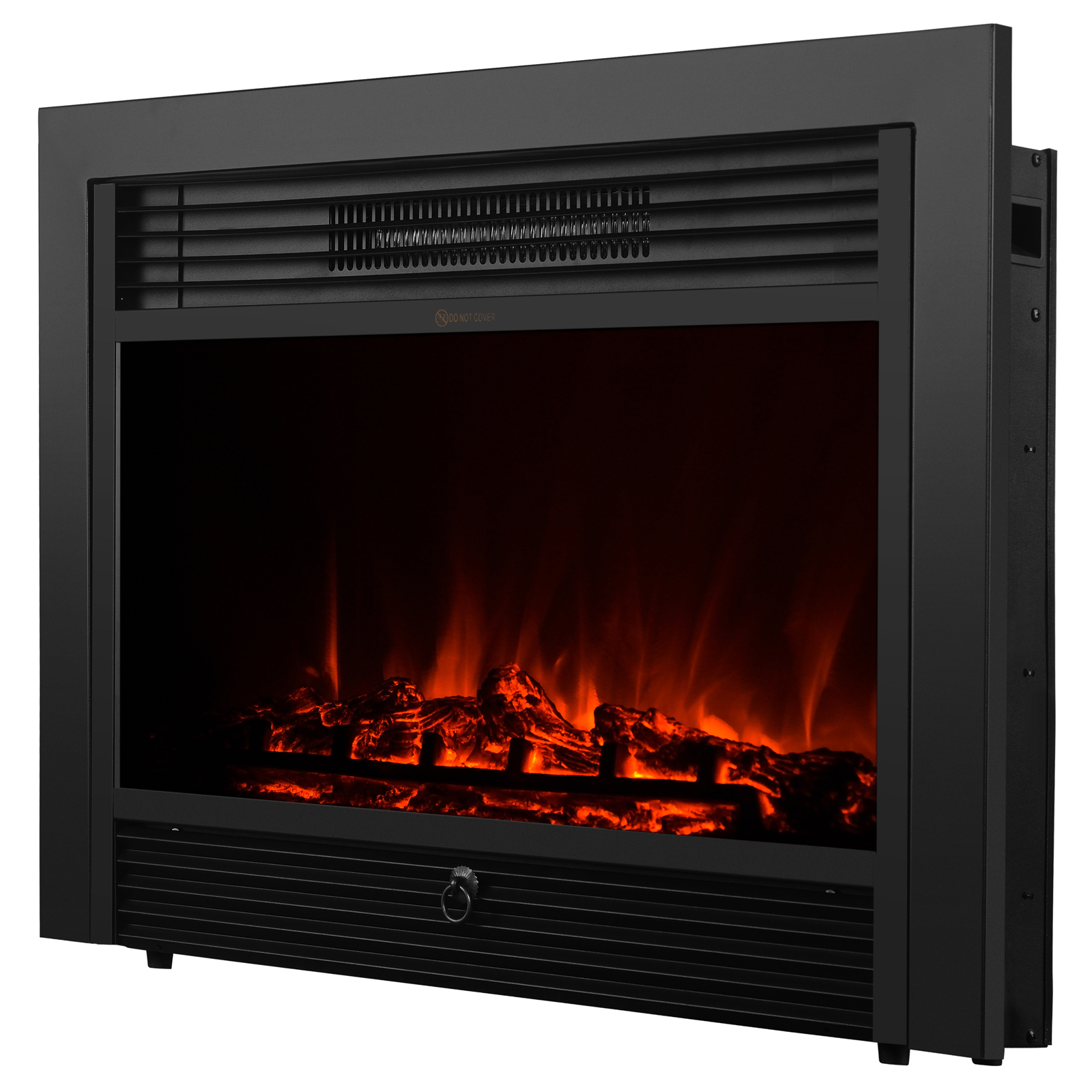 embedded 28 5 electric insert heater fireplace log flame