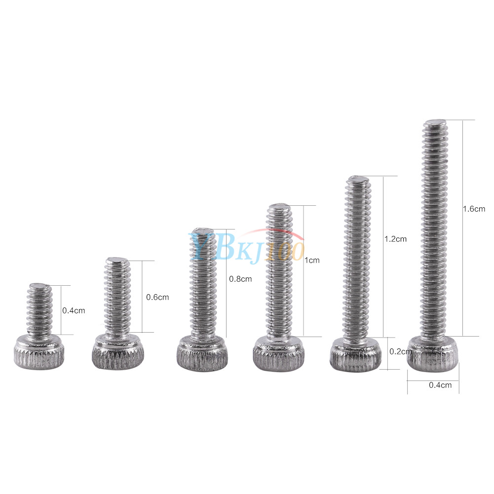 250pcs m2 2mm  a2 stainless steel bolts   hex nuts screws