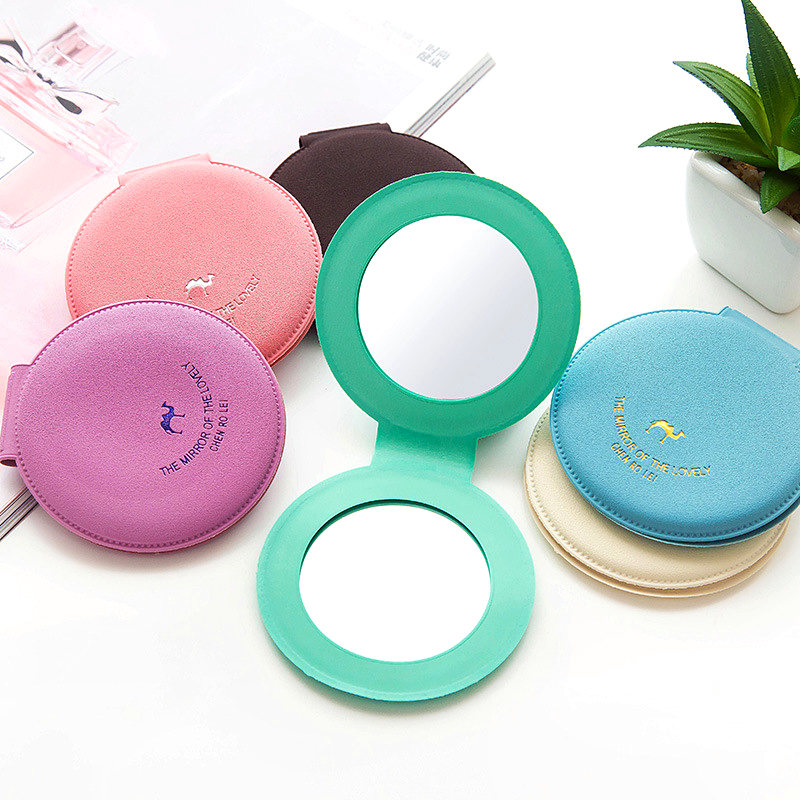 Mini miroir de poche rond cosm tique maquillage beaut for Mini miroir rond