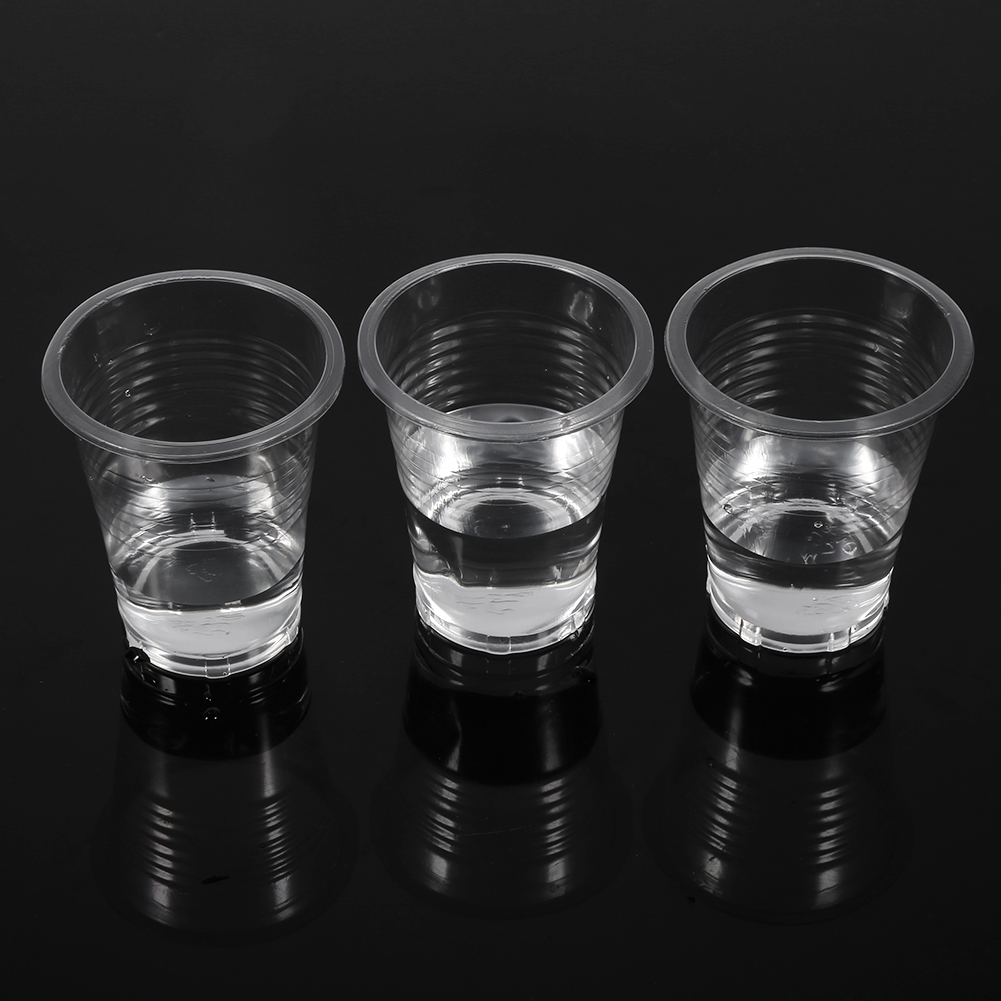 Hot Sale 100pcs Clear Plastic Disposable Drink Cups New ...