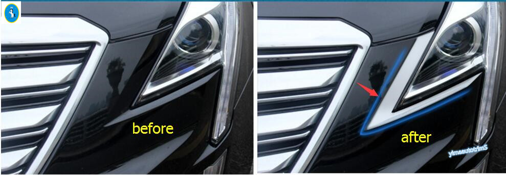 Accessories For Cadillac XT5 2016 2017 ABS Front Head