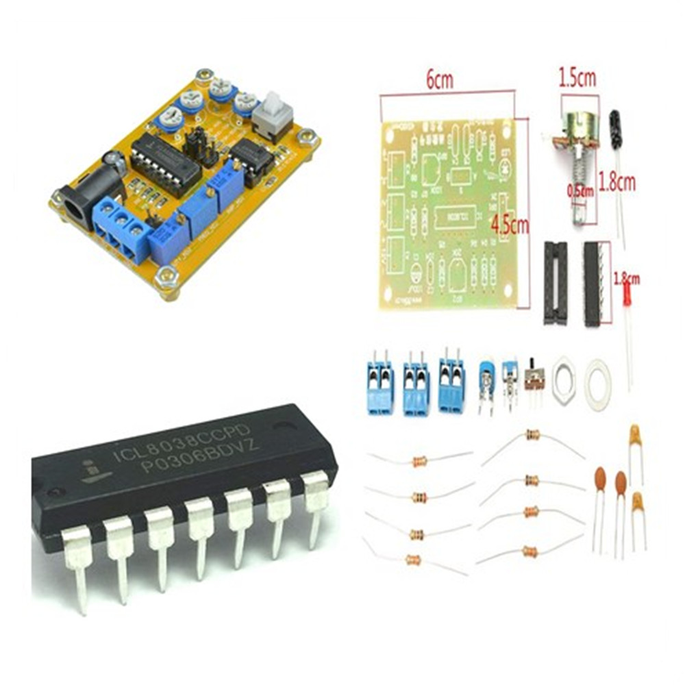 Icl8038 Dc 12v 25v Dds Signal Generator Module Sine Square Triangle 8038 Function Circuit Automotivecircuit Diagram Wave Output