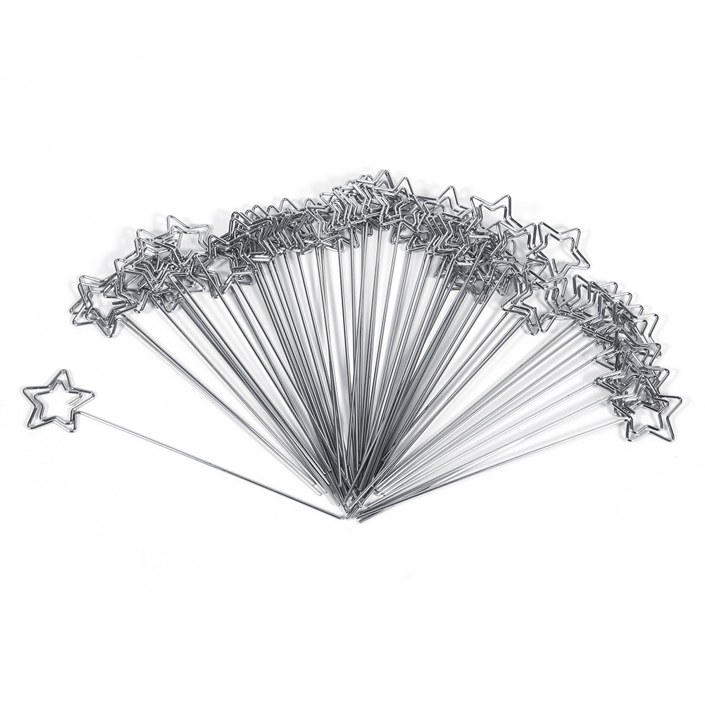 50pcs diy craft metal heart wires name photo card memo for Metal craft trailers parts