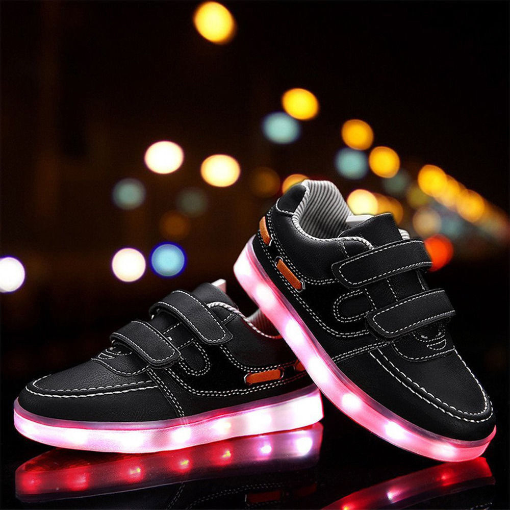 saguaro led schuhe kinders licht leuchtend blinkschuhe sneakers junder madchen ebay. Black Bedroom Furniture Sets. Home Design Ideas