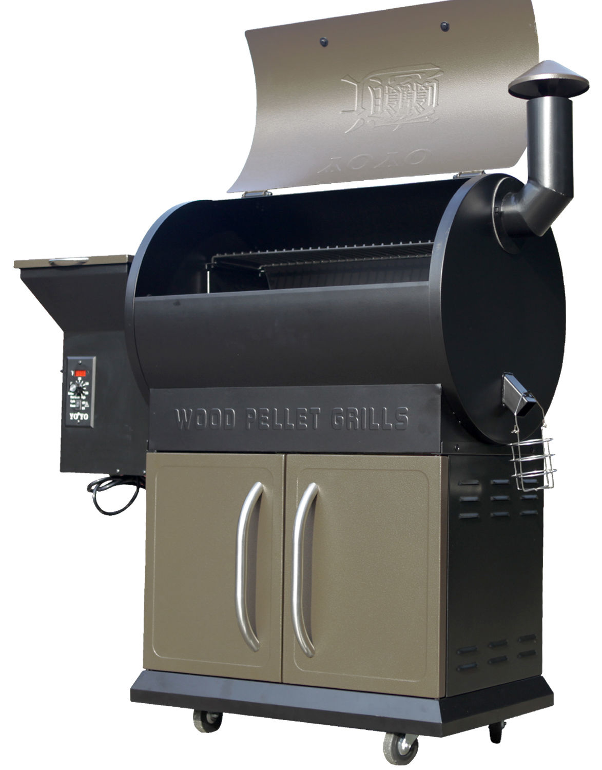 Z GRILLS Deluxe Wood Pellet Grill Smoker BBQ 684sq. with ...