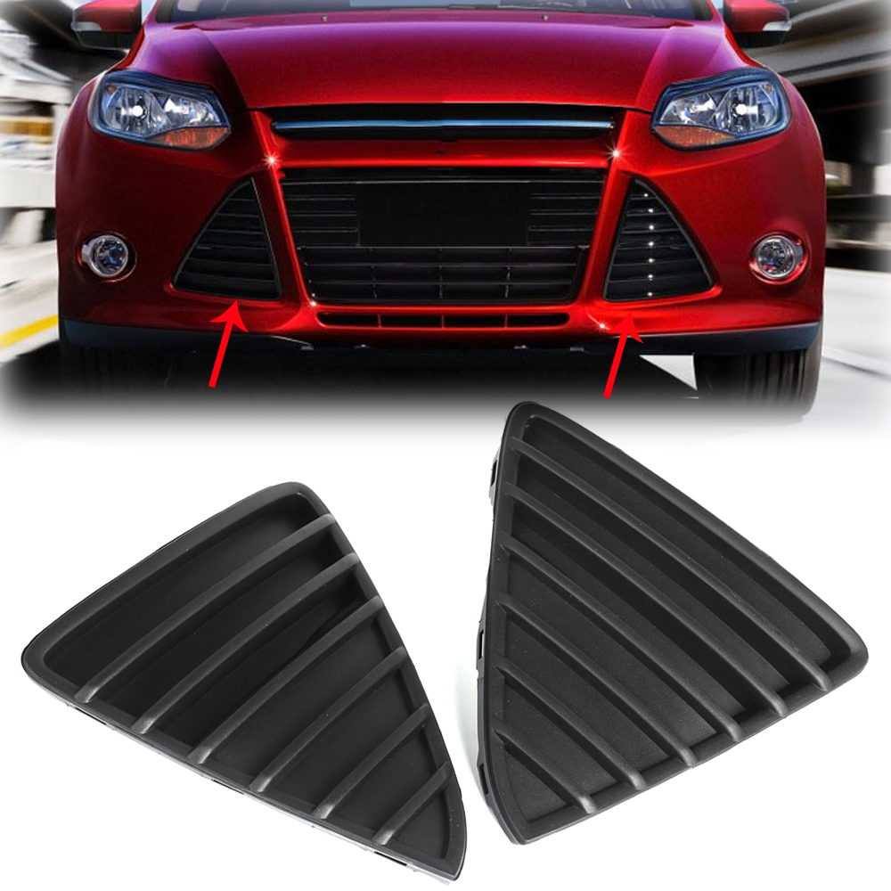 2x gloss black front bumper lower grilles grill cover for ford focus 2012 2014 ebay. Black Bedroom Furniture Sets. Home Design Ideas