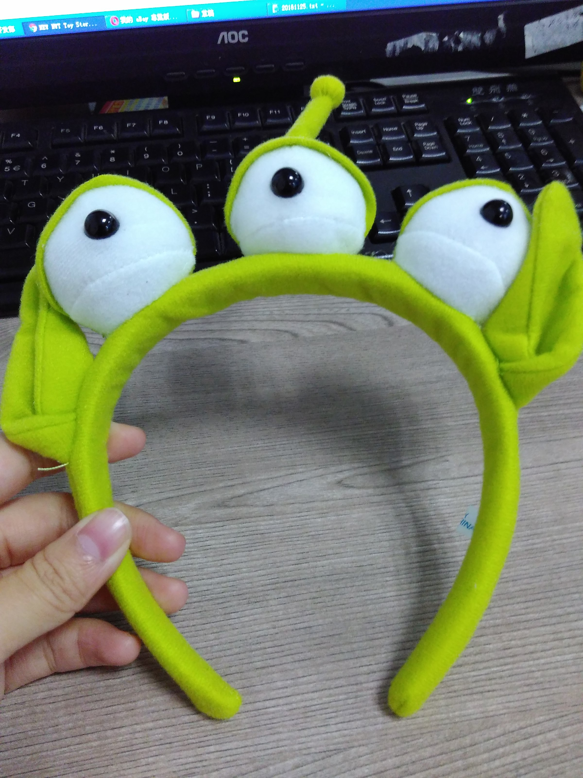 New Nwt Toy Story Alien Ears Anime Plush Headband Adult