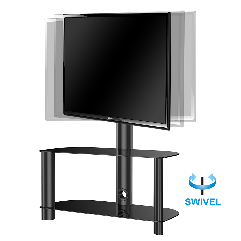 tv stand shelves for flat screen lcd led with swivel mount component furniture. Black Bedroom Furniture Sets. Home Design Ideas