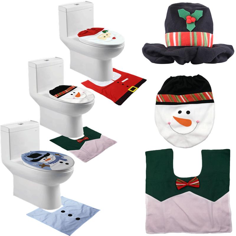 weihnachtsmann weihnachten toiletten sitz deckel teppich. Black Bedroom Furniture Sets. Home Design Ideas