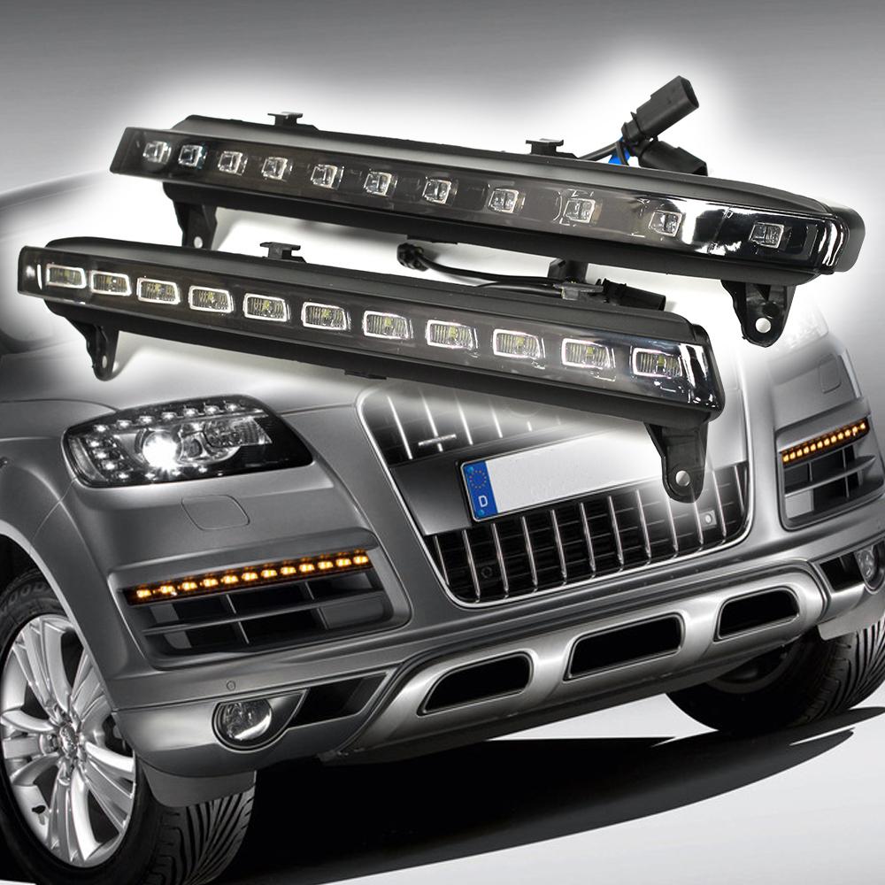 LED Daytime Running Lights For Audi Q7 22-LED W/Turn