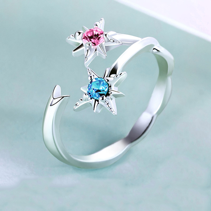 stone sale wedding sterling sapphire jewelry vintage ring style for couple created women crown item cute anime silver rings