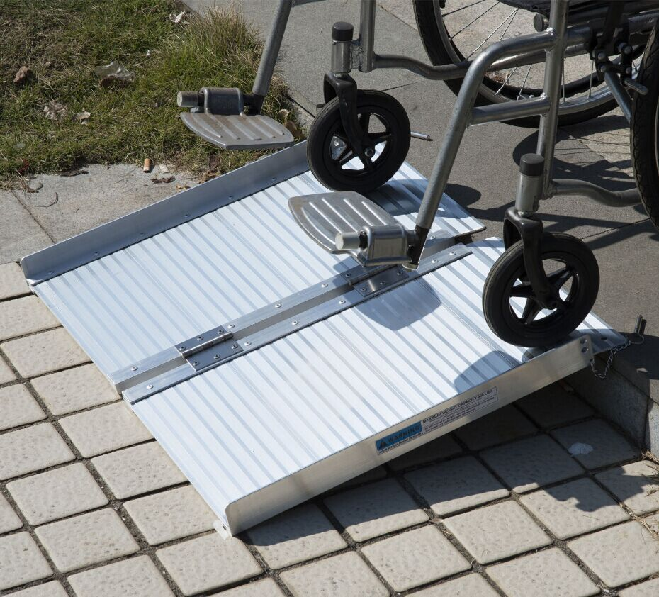 2 Aluminum Fold Portable Wheelchair Ramp Mobility