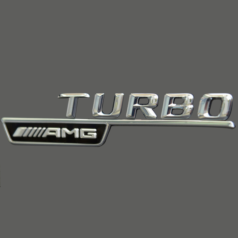 2 X Turbo Amg Badge For Mercedes A B C E S Class Stickers