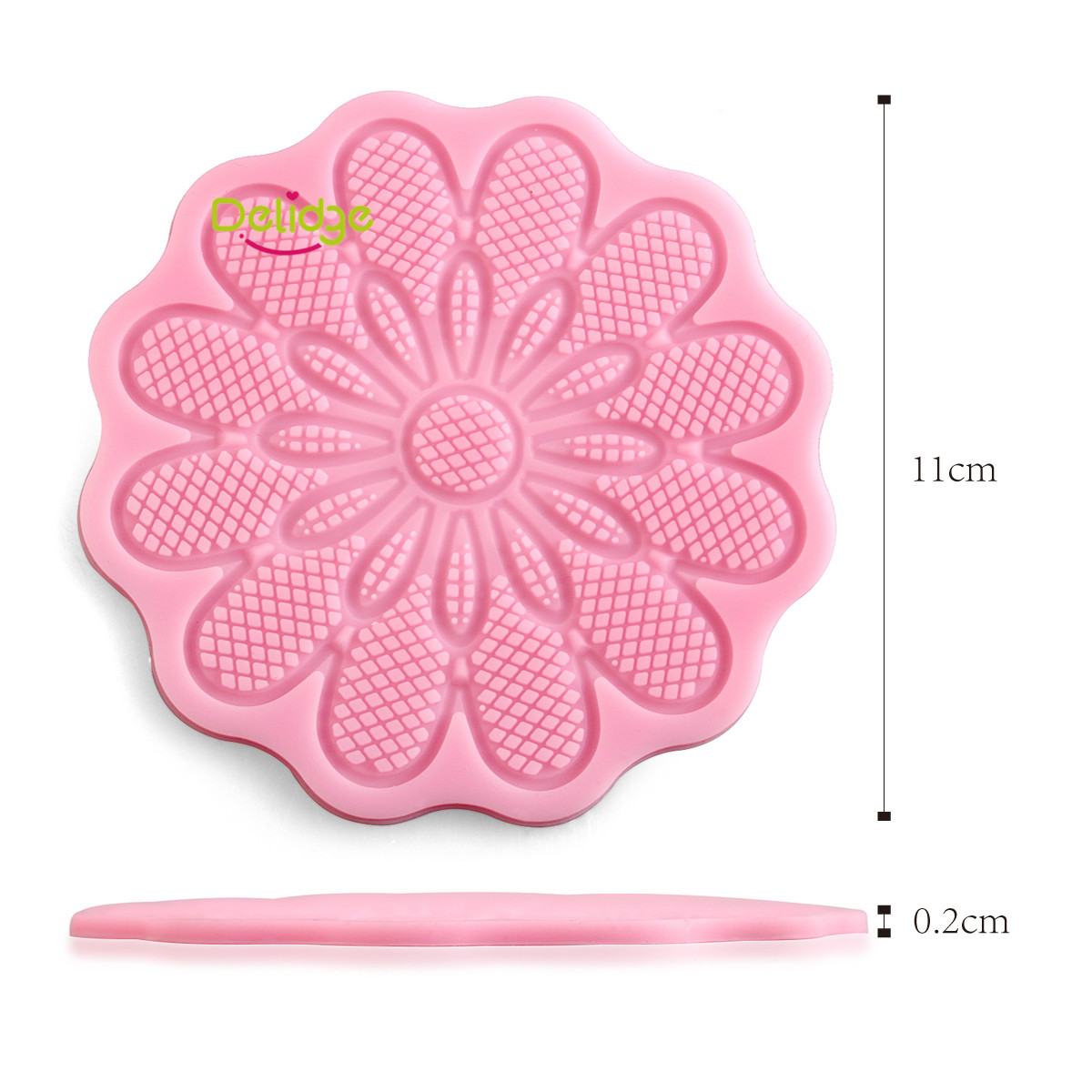 Diy Lace Silicone Mold Mould Sugar Craft Fondant Mat Cake