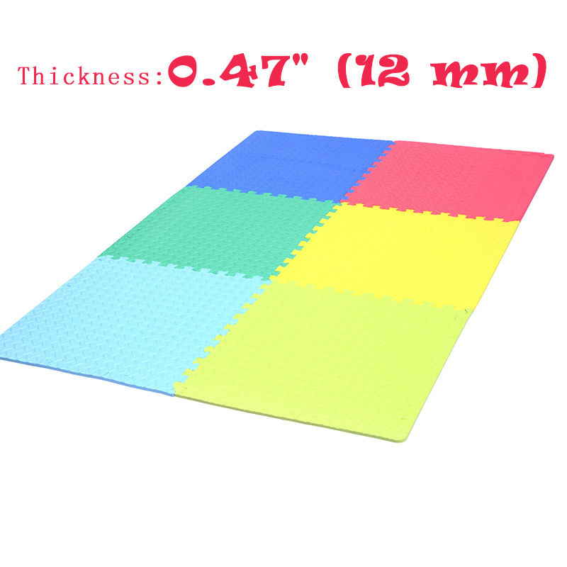 72sq Ft Puzzle Gym Soft Eva Foam Floor Interlocking Tiles Exercise Mats Yoga EBay