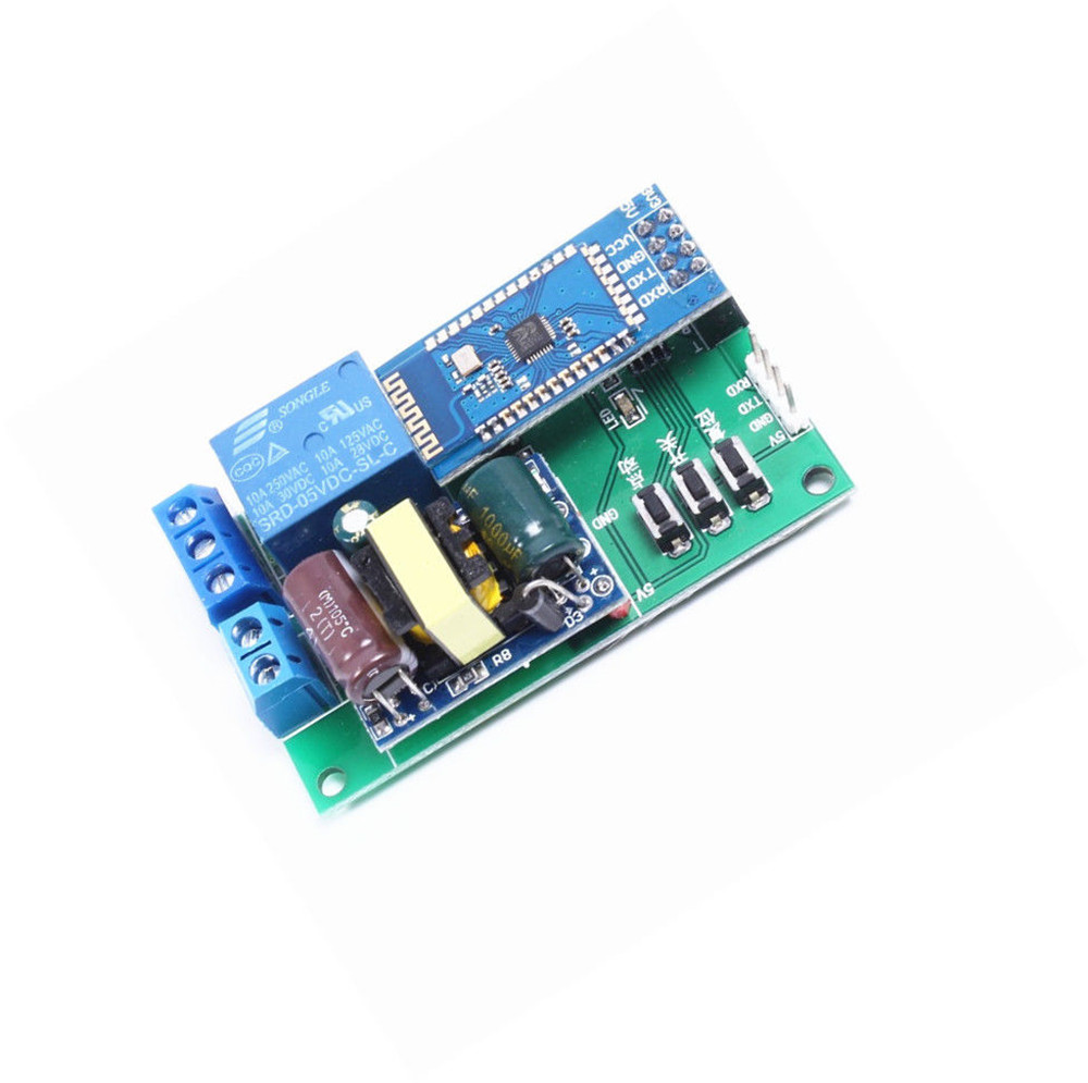 5v Dc Bluetooth Control Relay Module 1 Channel Ttl Serial Port Cycle Controlling 110vac With 5vdc Timier