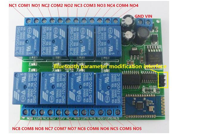 Details about 12V 8CH Bluetooth Relay Android Mobile Remote control Switch  for Motor LED Light