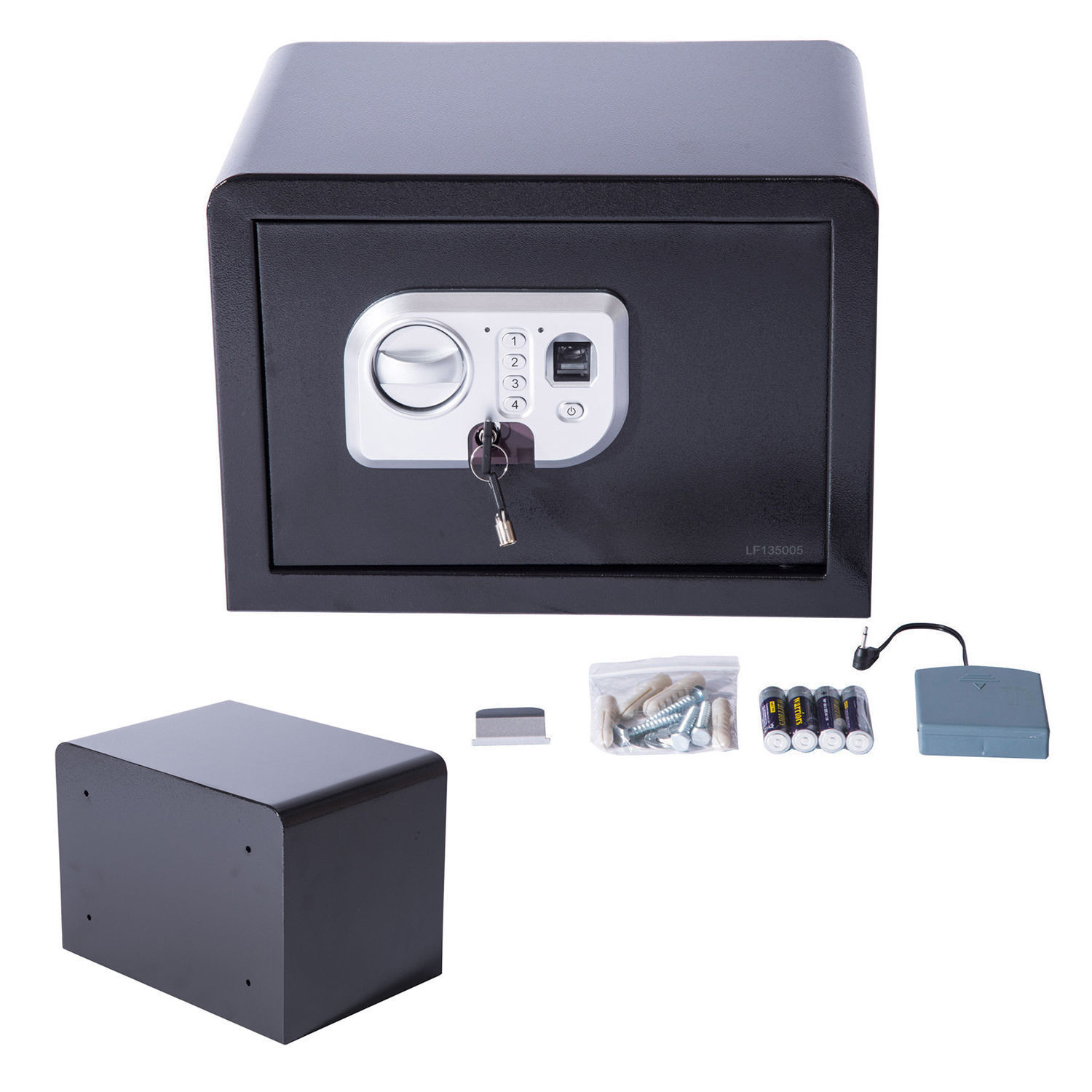 14 39 39 electronic safe box biometric fingerprint digital wall keypad lock security ebay. Black Bedroom Furniture Sets. Home Design Ideas