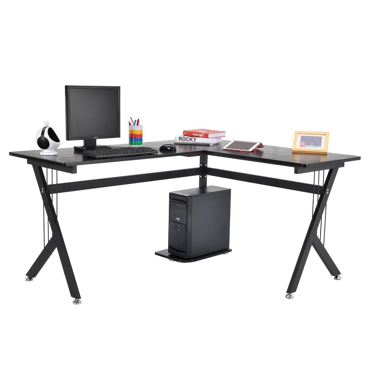 Computer Desk Pc Laptop Wood Table Home Office Study: L-Shape Computer Desk PC Wood Laptop Table Workstation