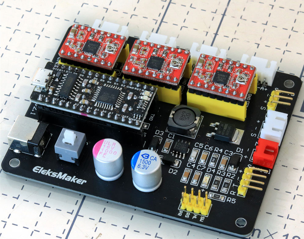 Stepper motor controller and driver board weergeven