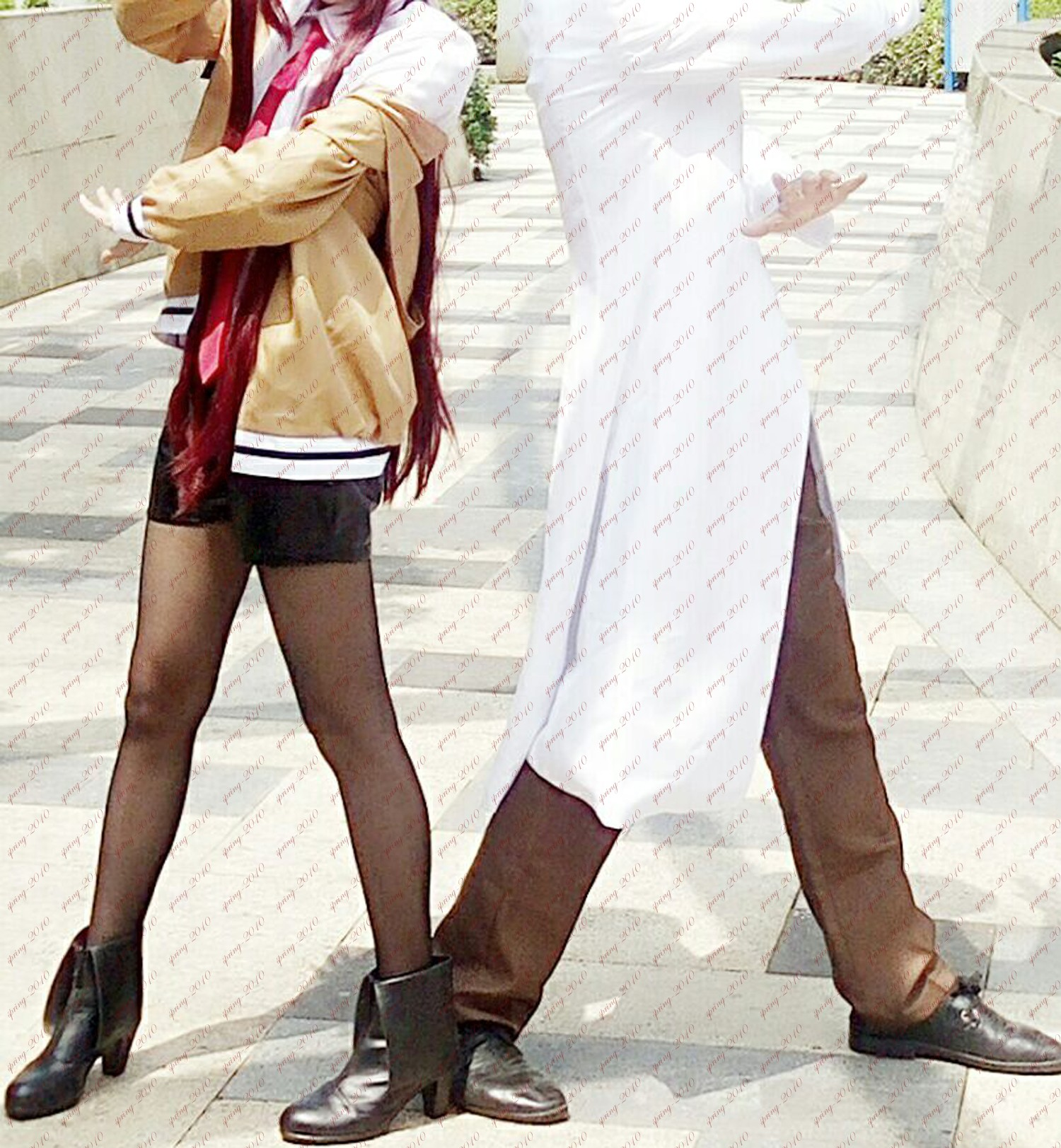 Steins Gate Makise Kurisu Christina Cosplay Shoes Women High Heels Customized